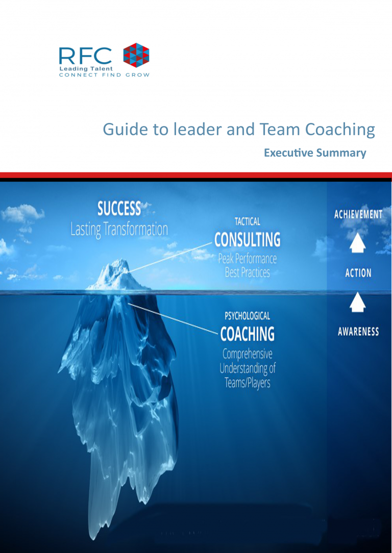 guide to coaching exec summary cover